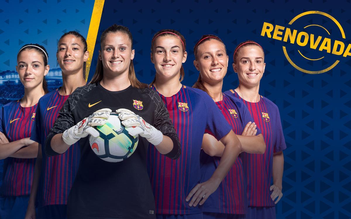 Seis renovaciones en el Barça Femenino