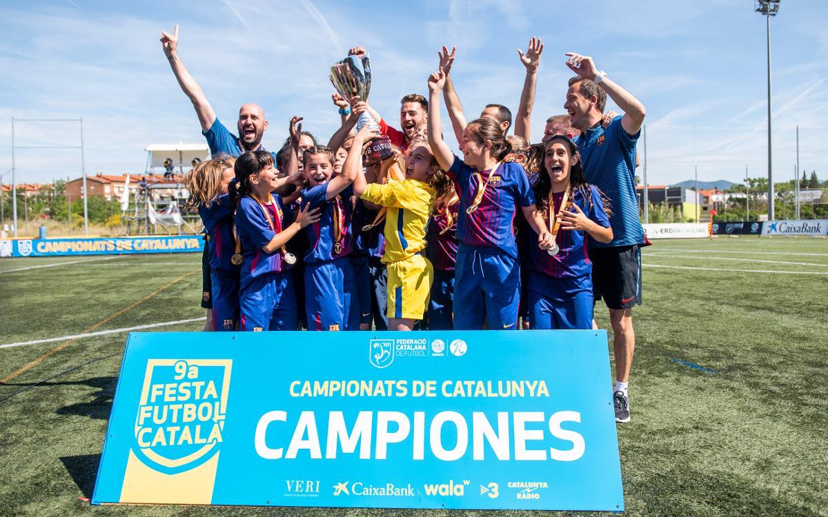 ¡Doblete de la cantera femenina en la Copa Catalunya!