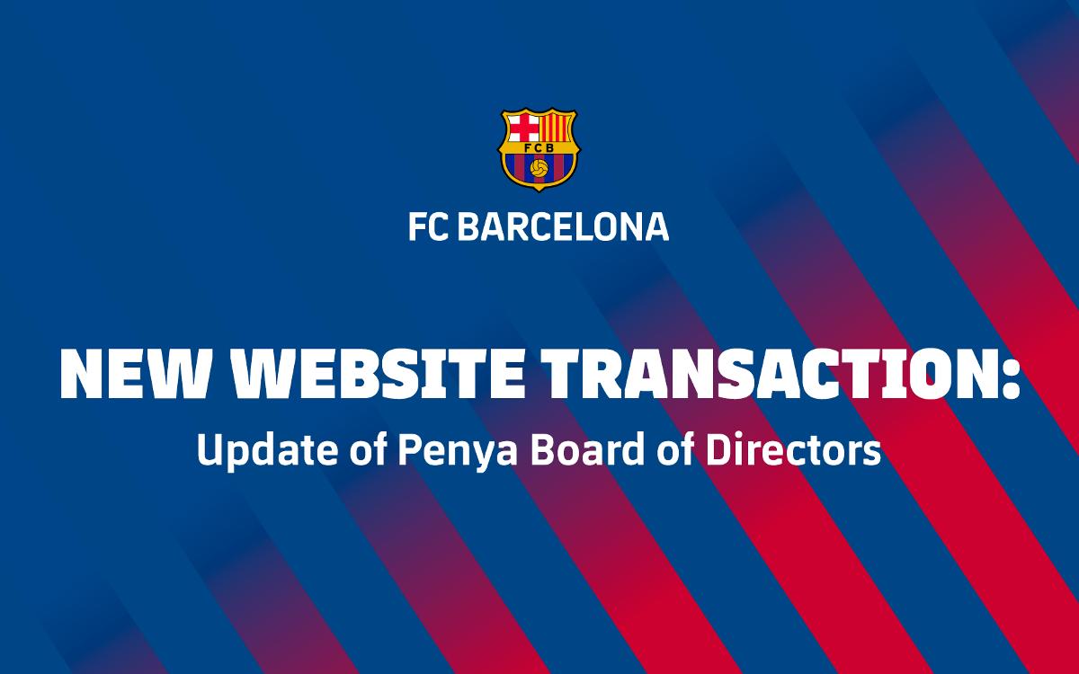 New website transaction: Update of Penya Board of Directors
