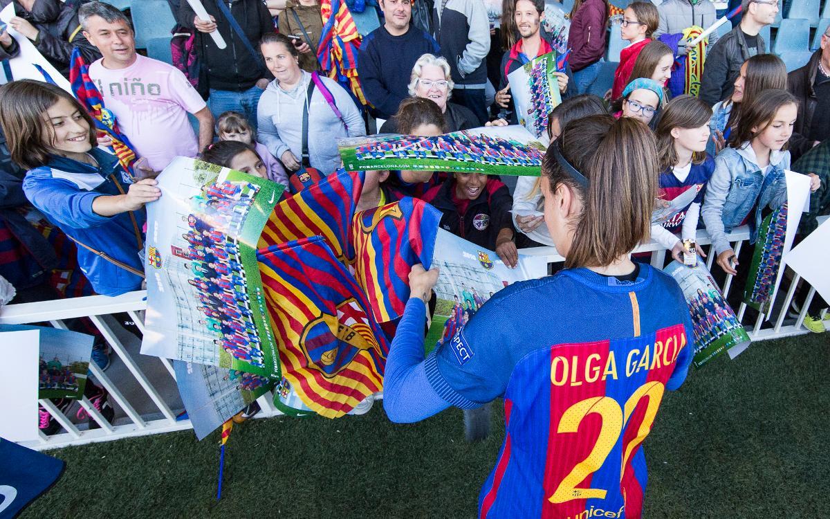 Olga García s'acomiada de l'afició