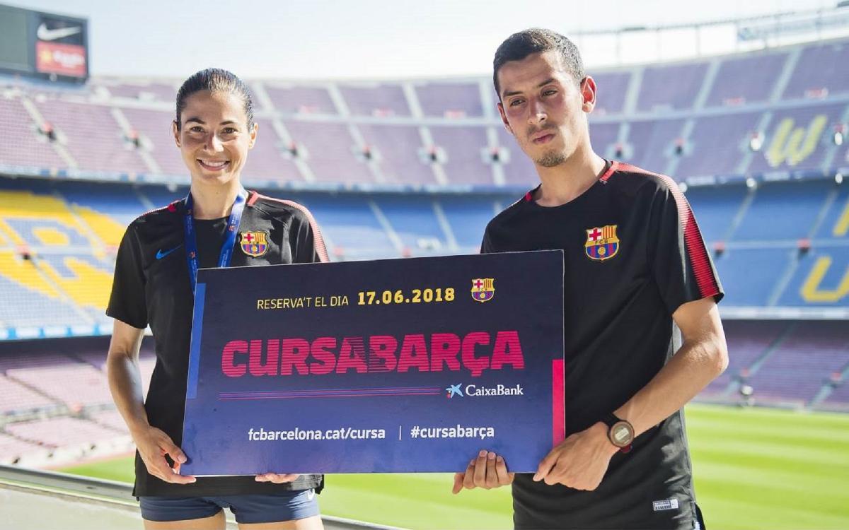 Mohamed Zarhouny guanya la Cursa Barça CaixaBank 2018 en categoria masculina i Marta Galimany repeteix victòria