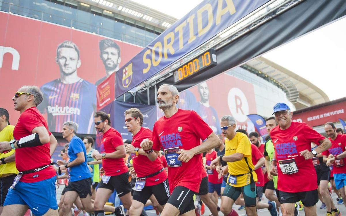 La Cursa Barça CaixaBank 2018 llena de barcelonismo las calles de Les Corts