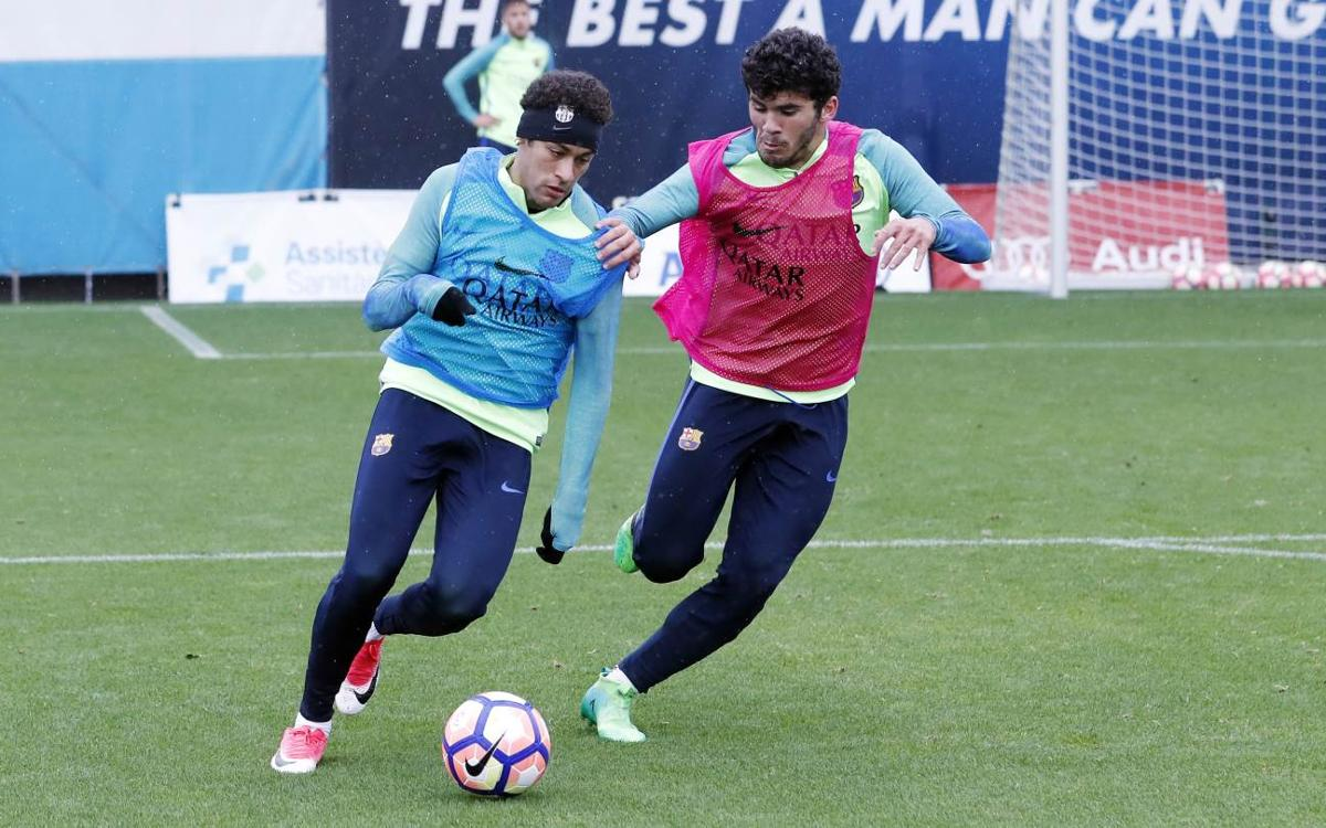 Recovery session with Barcelona derby on the horizon