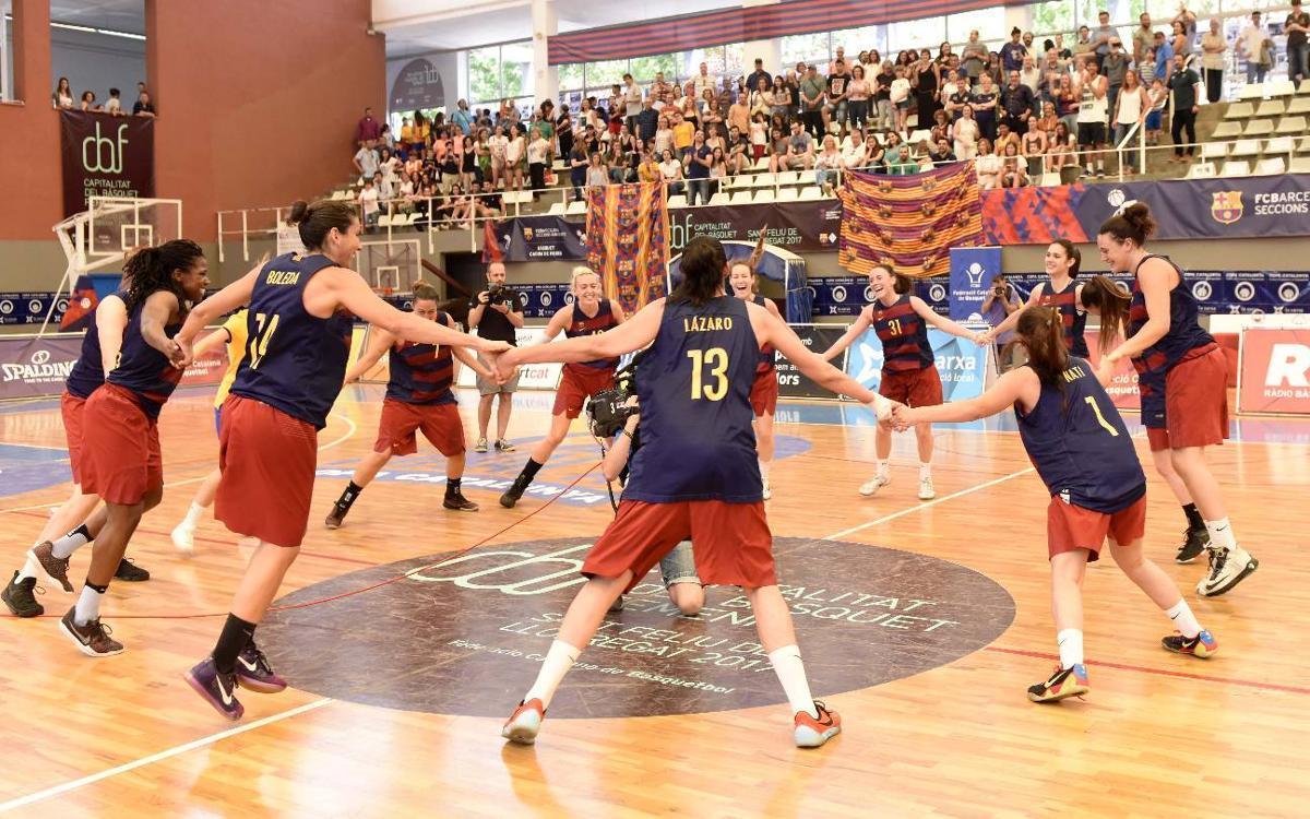 Barça CBS - Cerdanyola-Villa Universitaria: ¡Campeonas de la Copa Catalunya! (57-49)