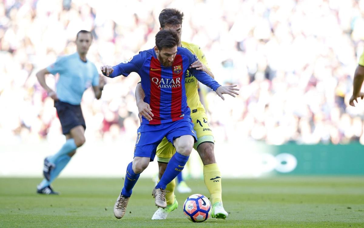 Lionel Messi reaches 50-goal plateau in a single season for the fifth time