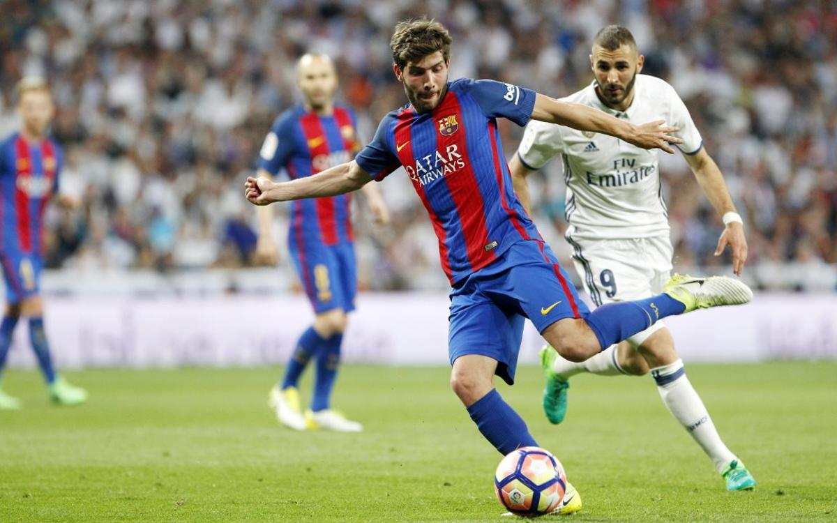 Sergi Roberto assoleix els 150 partits com a blaugrana