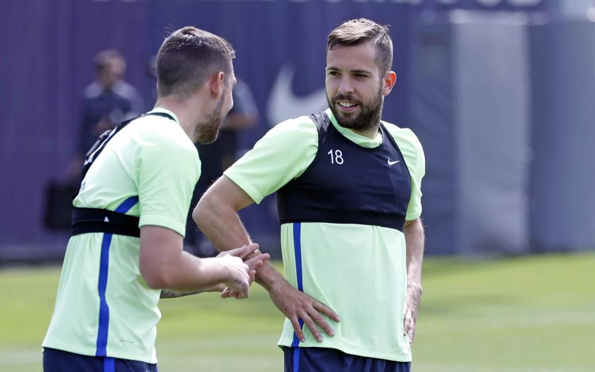 """Jordi Alba: """"La meva intenció és seguir al FC Barcelona"""""""