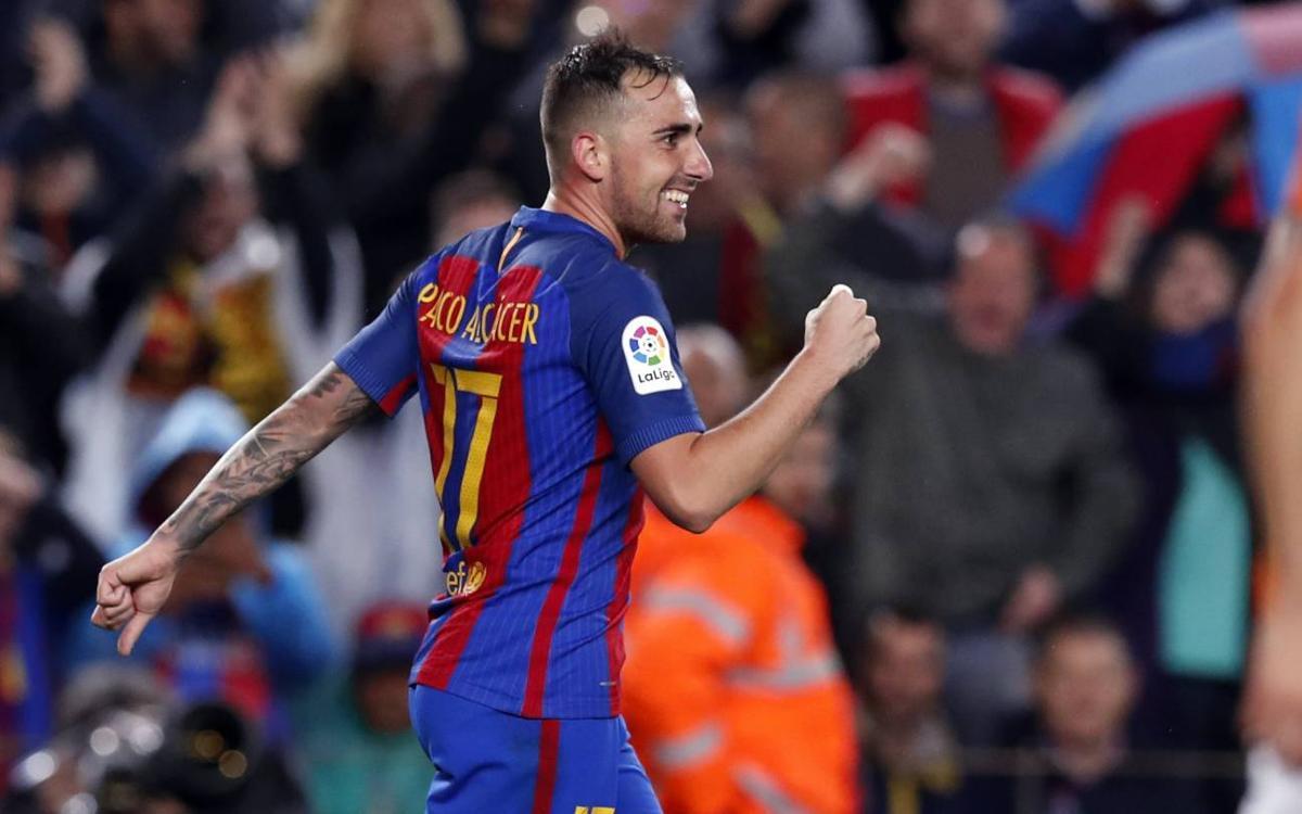 """Alcácer: """"Marcar gols dóna seguretat i tranquil·litat"""""""