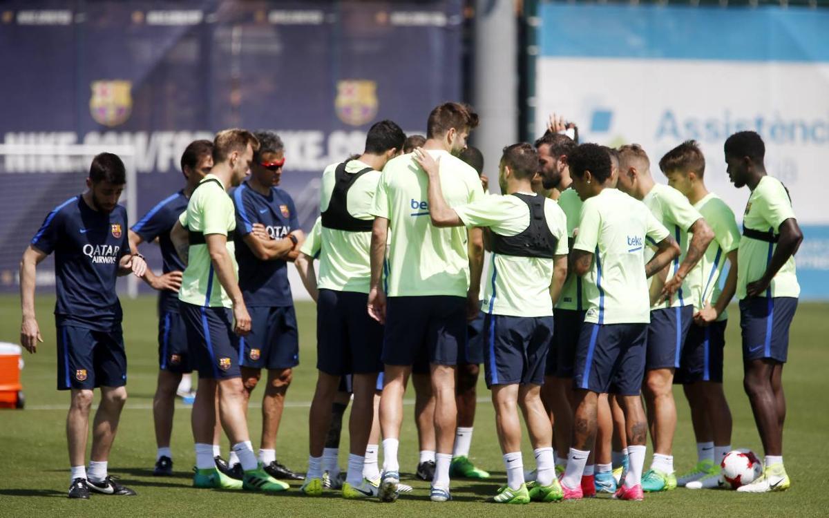 Luis Enrique se lleva toda la plantilla a Madrid