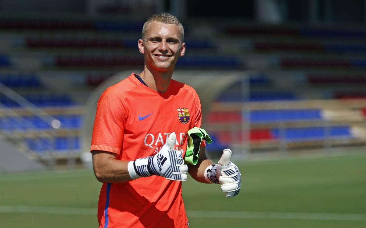 Cillessen's preparations for the Copa del Rey final