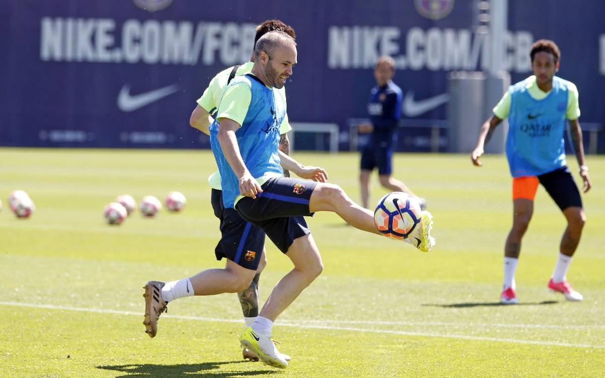 Training schedule leading up to the Copa del Rey final