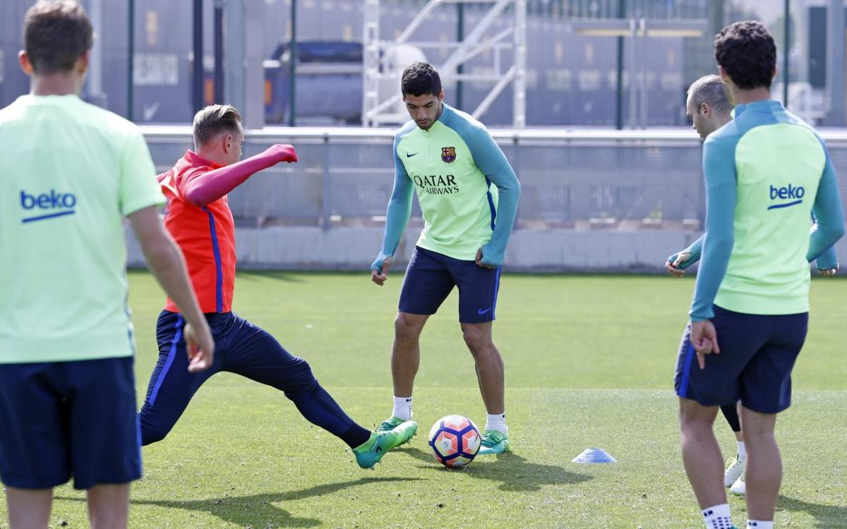 Vidéo - Séance d'entraînement pour le FC Barcelone, focalisé sur le Clasico