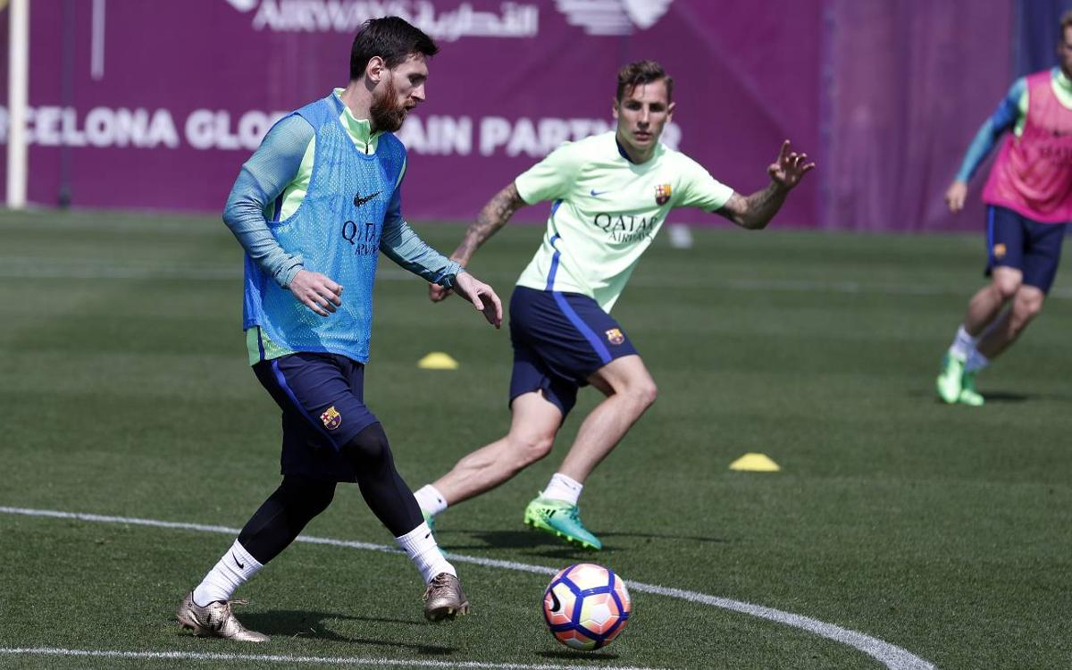 Last training session before Osasuna match