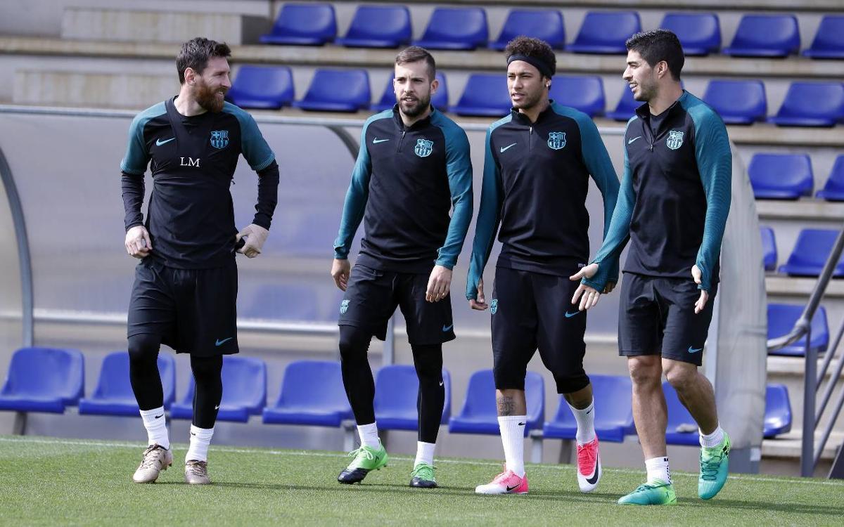 Darrera sessió abans de rebre a la Juventus