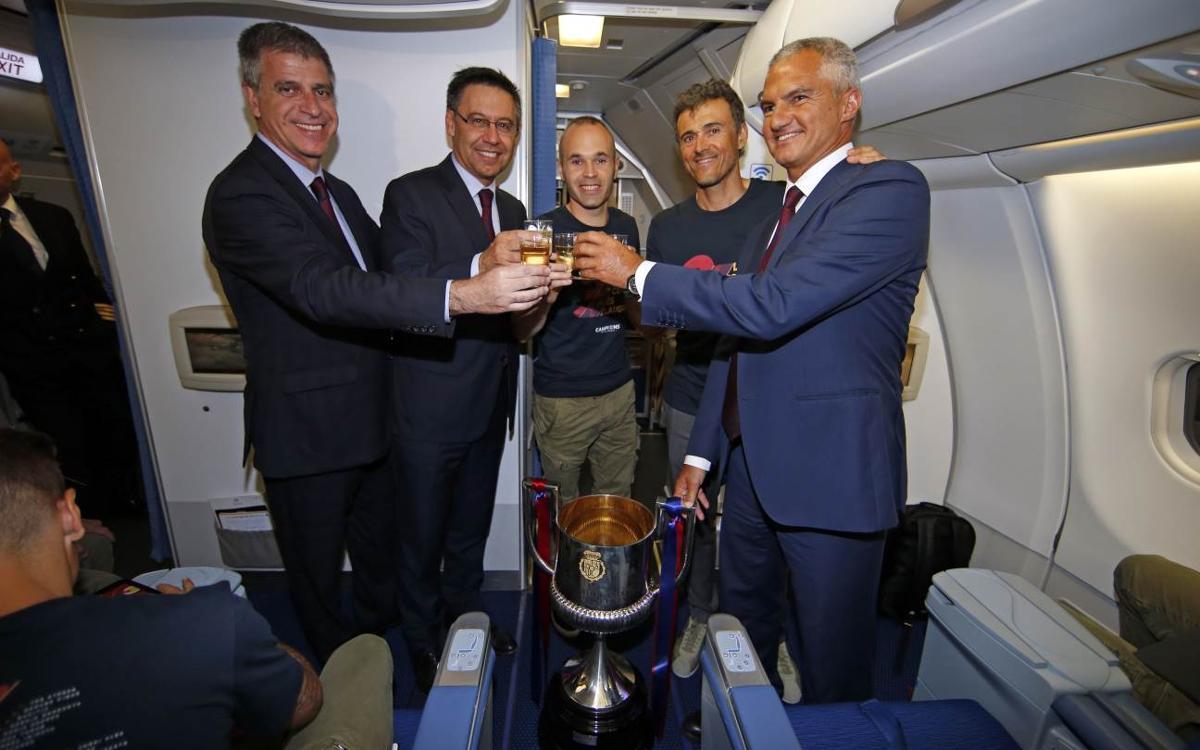 The Copa del Rey champions' return!