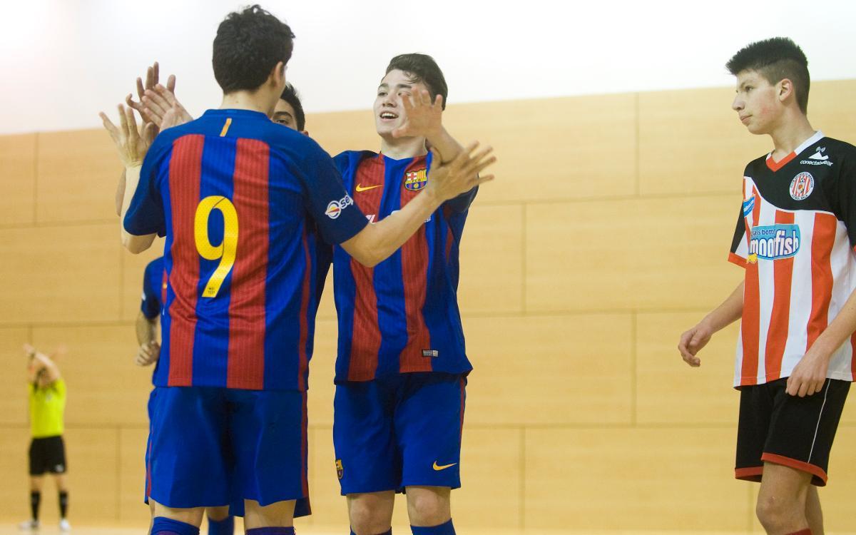 El Juvenil, el Cadete y el Alevín, en la final de la Copa Cataluña