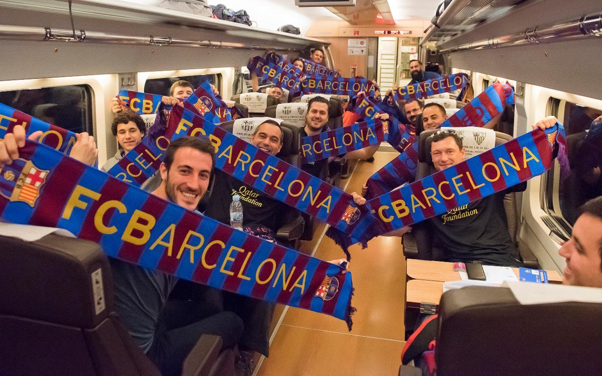 FCBDesplaçaments traslada 2.100 seguidores a la final de Copa de Madrid