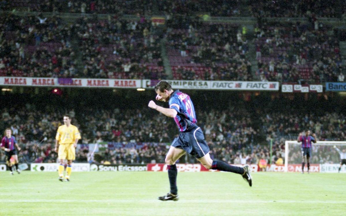 El gol de Luis Enrique davant la UD Las Palmas
