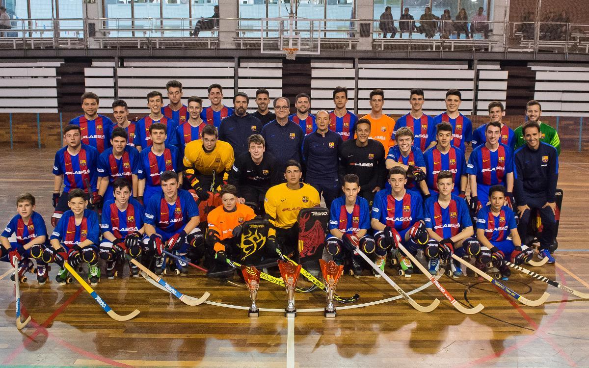 Els quatre equips de l'hoquei formatiu, a punt per disputar els Campionats d'Espanya