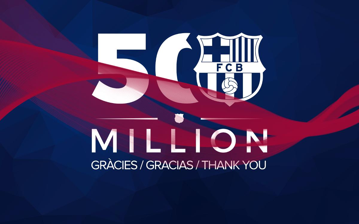 FC Barcelona are the first sports club to reach 50 million followers on Instagram