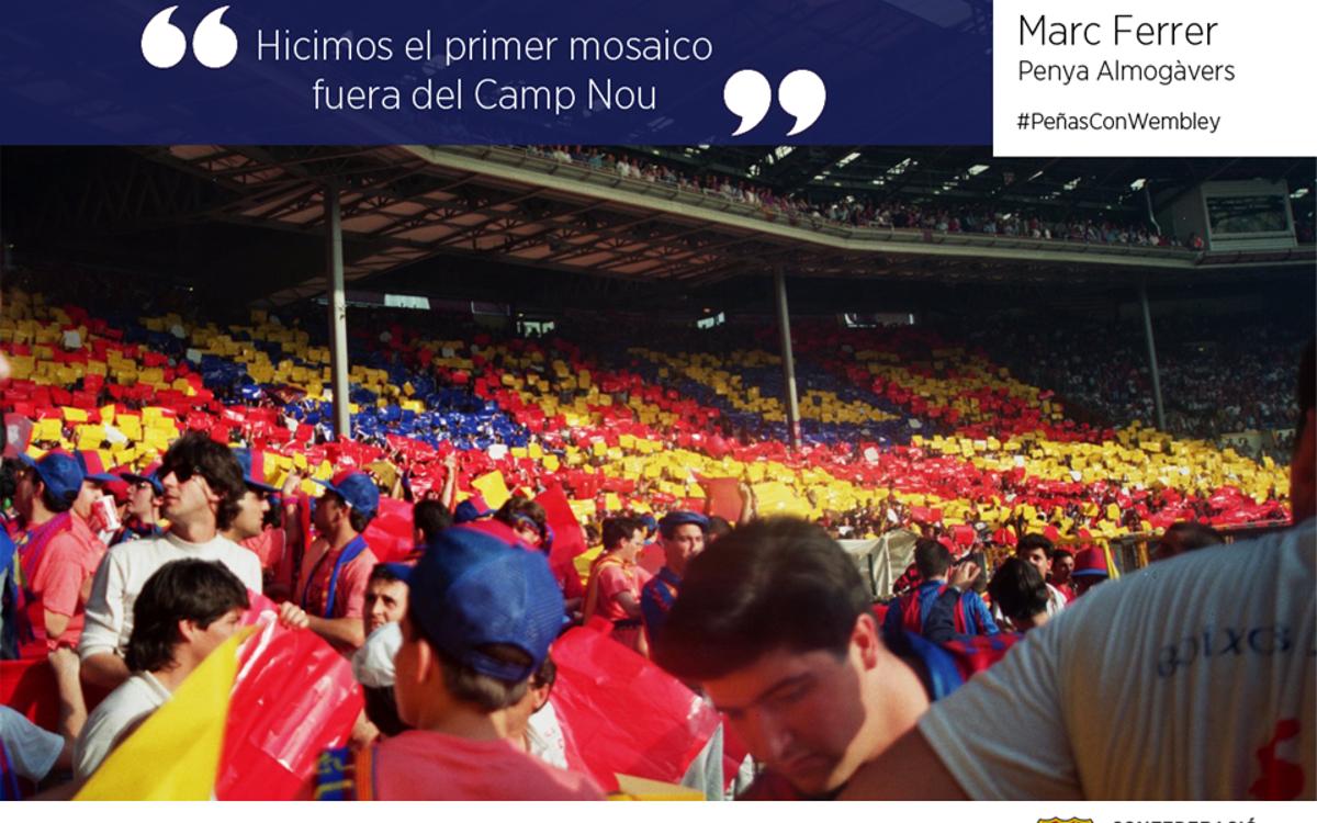 """""""Hicimos el primer mosaico fuera del Camp Nou"""""""