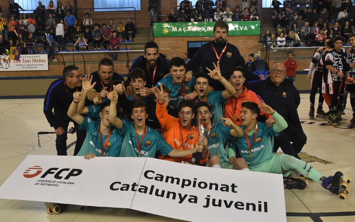 Doblet blaugrana al Campionat de Catalunya Juvenil i Aleví
