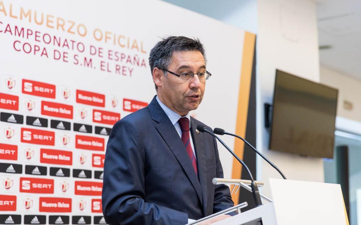 """Josep Maria Bartomeu: """"Luis Enrique és un entrenador d'èxit i té les portes obertes per tornar quan vulgui"""""""