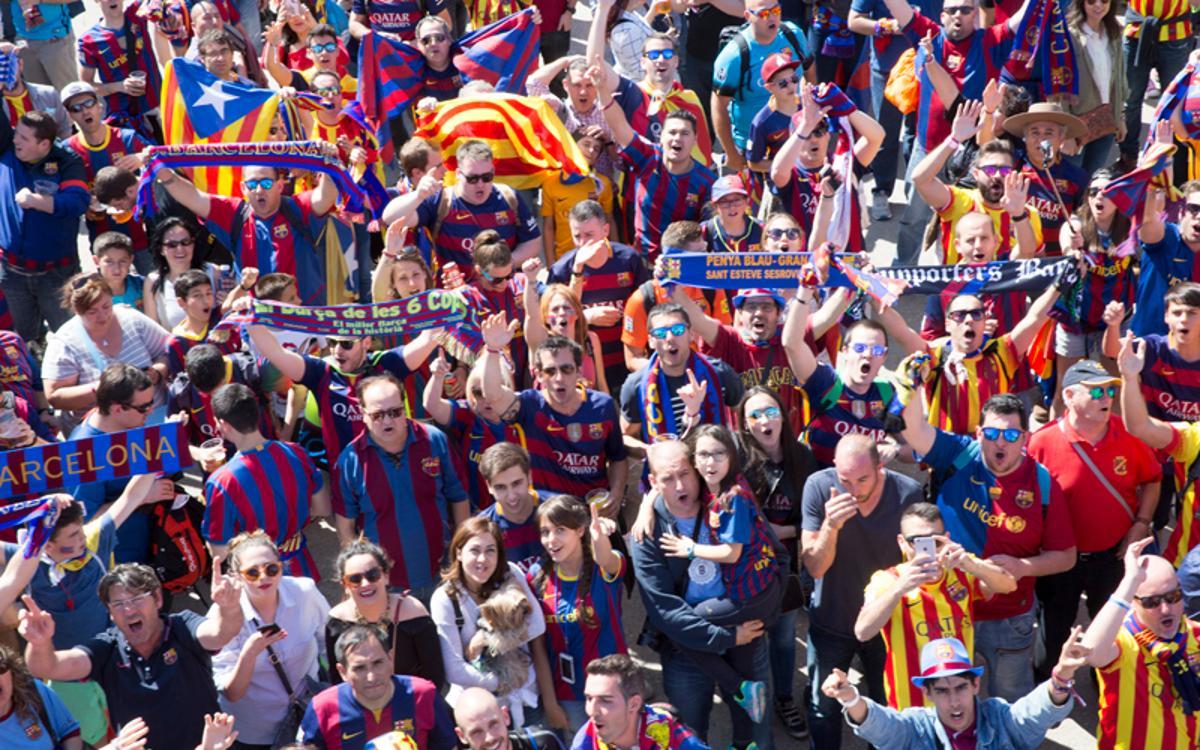 Cerca de 1000 peñas se desplazarán a Madrid para vivir la Final de Copa