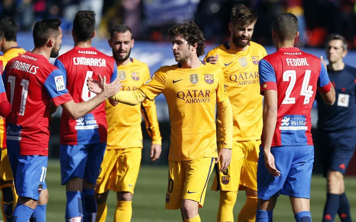 El FC Barcelona y el Levante se reencontrarán en Primera