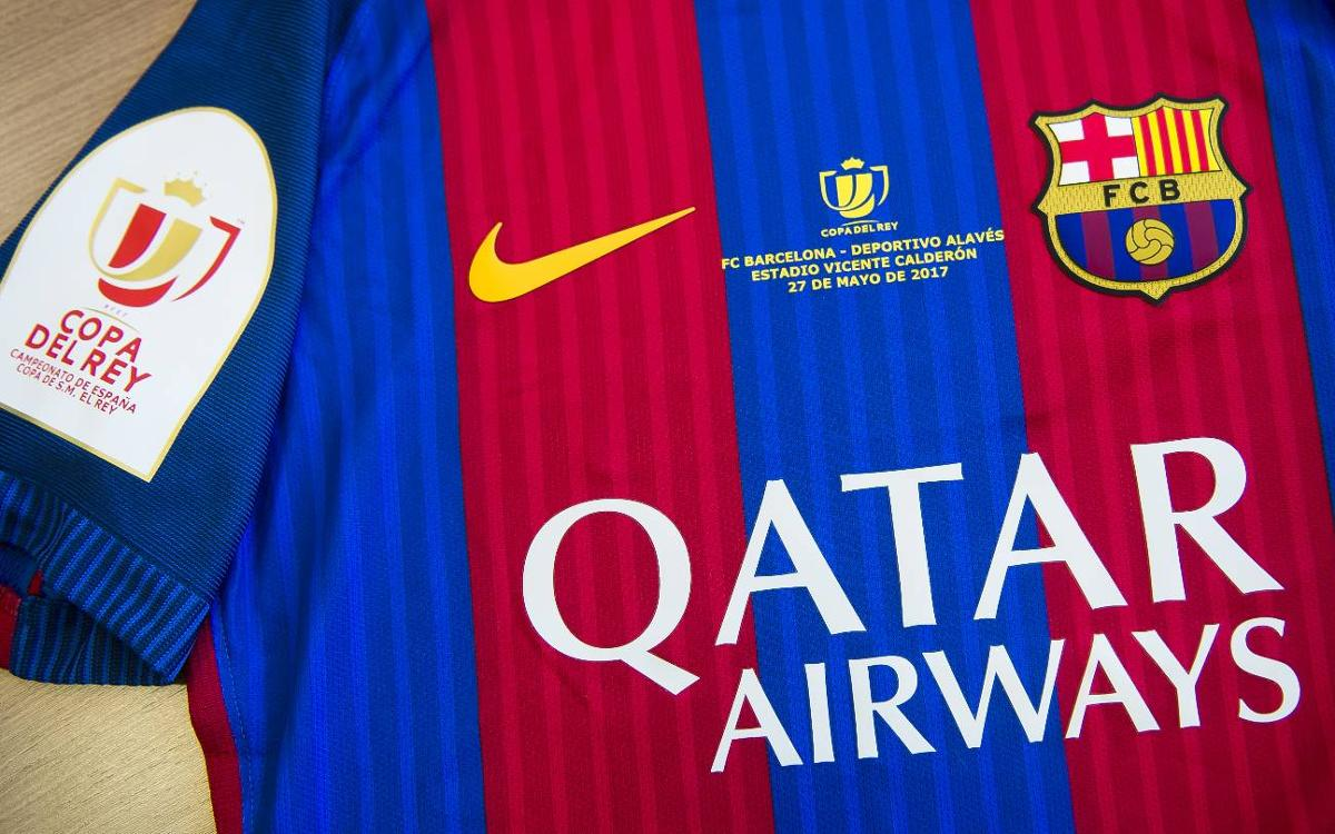 FC Barcelona's Copa del Rey Final jersey