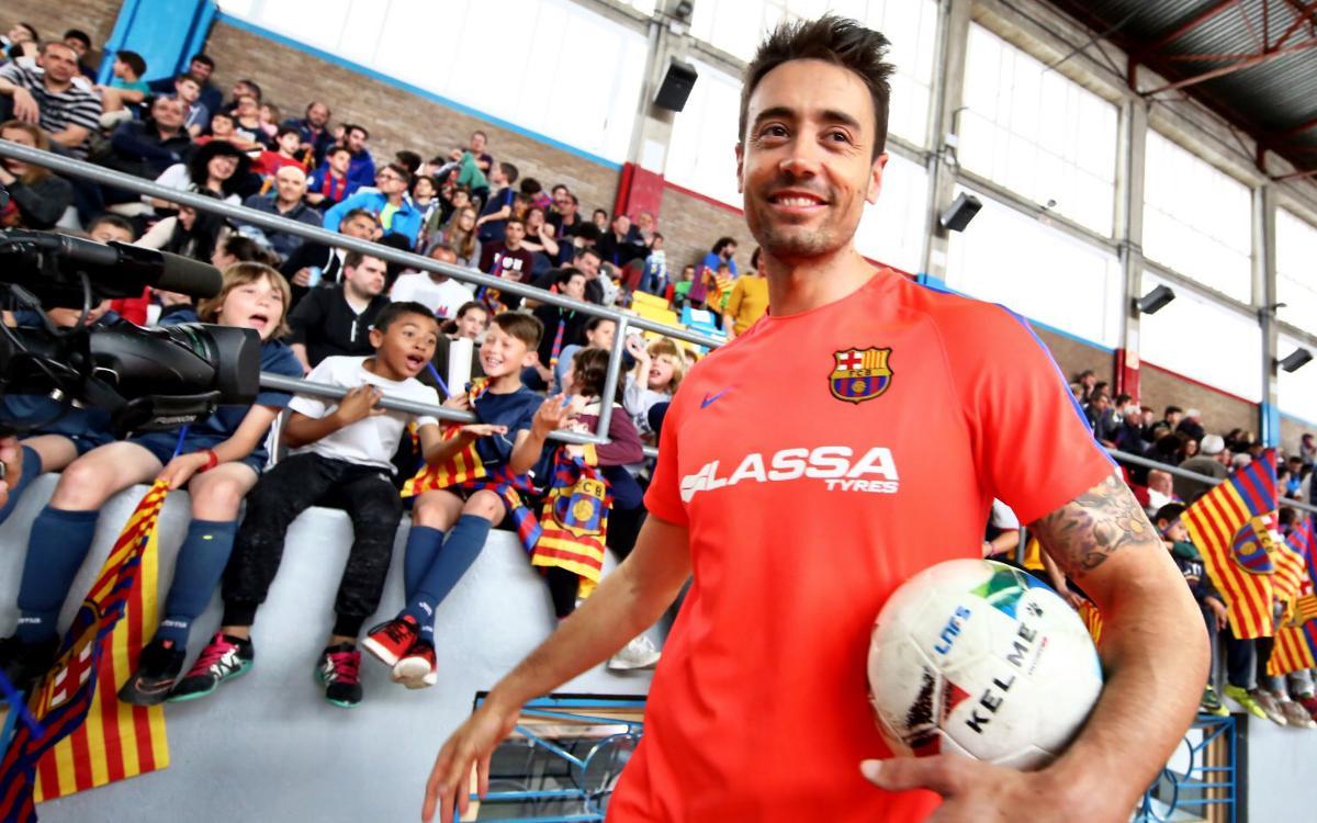 Entrenamiento de puertas abiertas del FC Barcelona Lassa en Balaguer