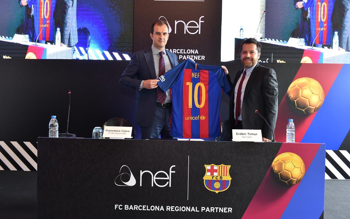 NEF becomes new Regional Partner of FC Barcelona