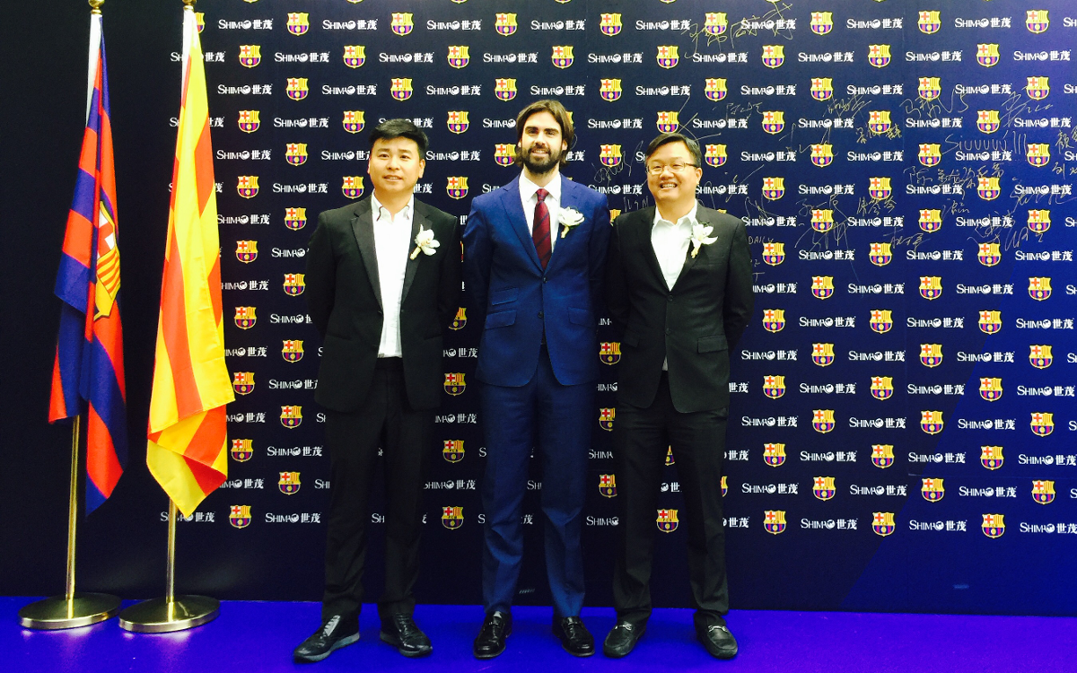 FC Barcelona and Shimao Group present agreement in Shanghai