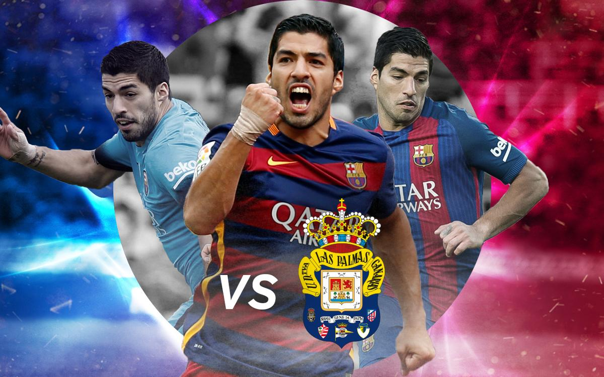 Grans gols de Suárez contra Las Palmas