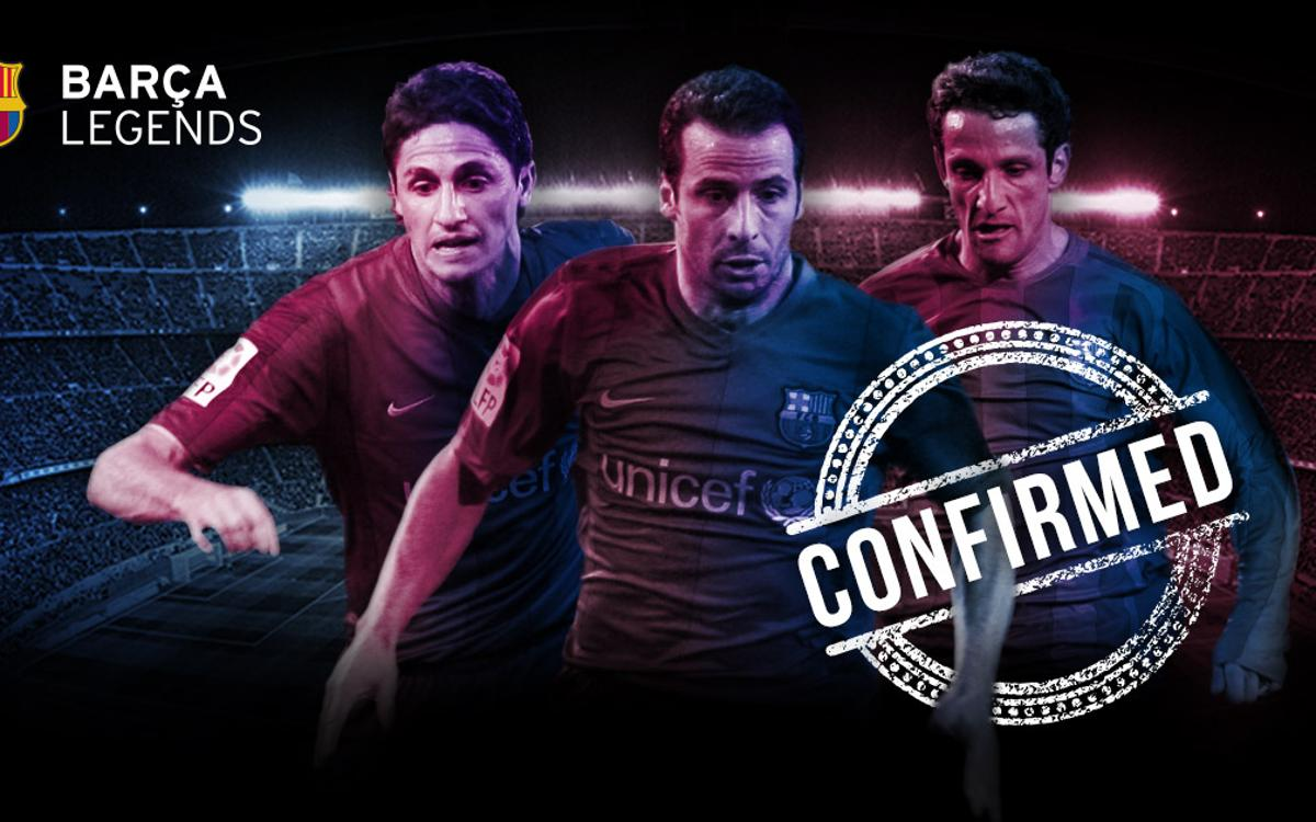 First players confirmed for Barça Legends' Camp Nou debut
