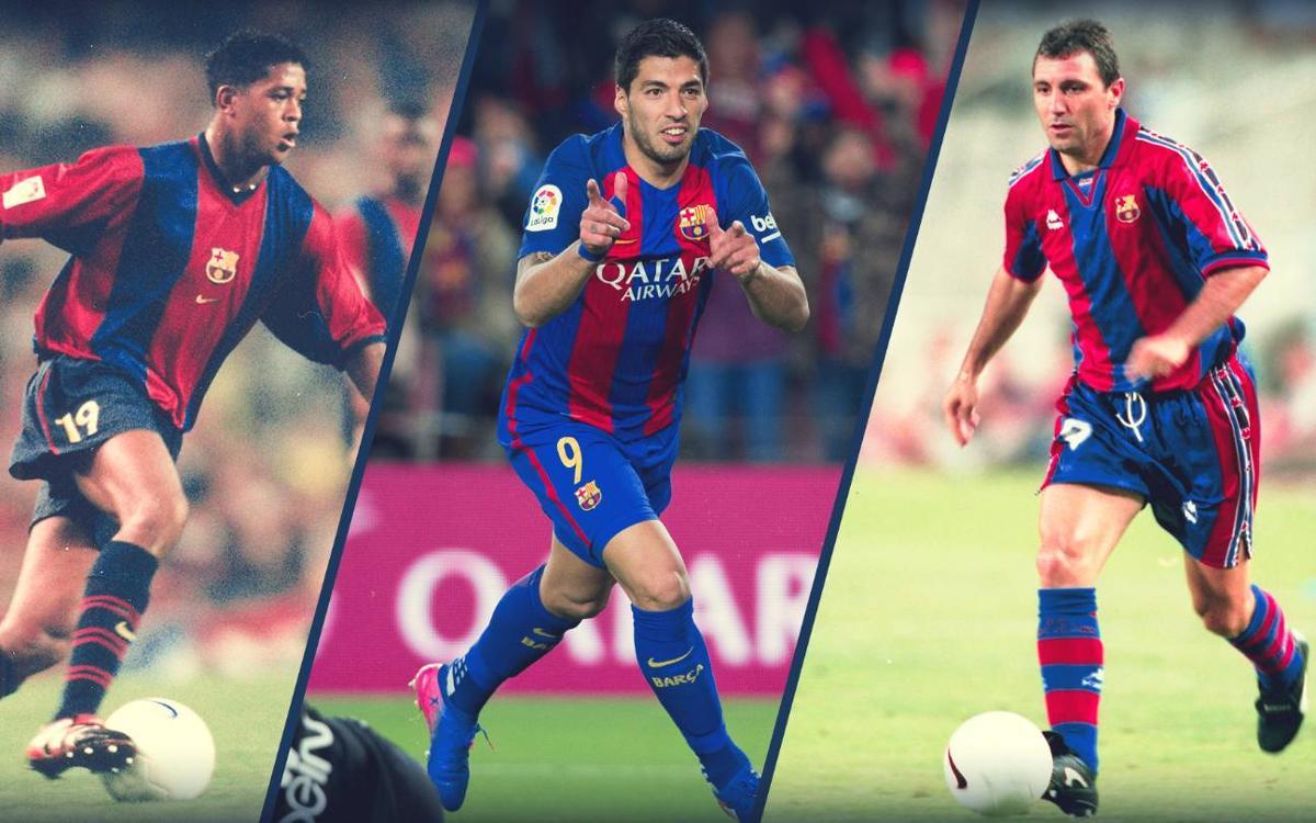 Luis Suárez, à la poursuite de Stoichtkov, Kluivert et Reixach avec le FC Barcelone