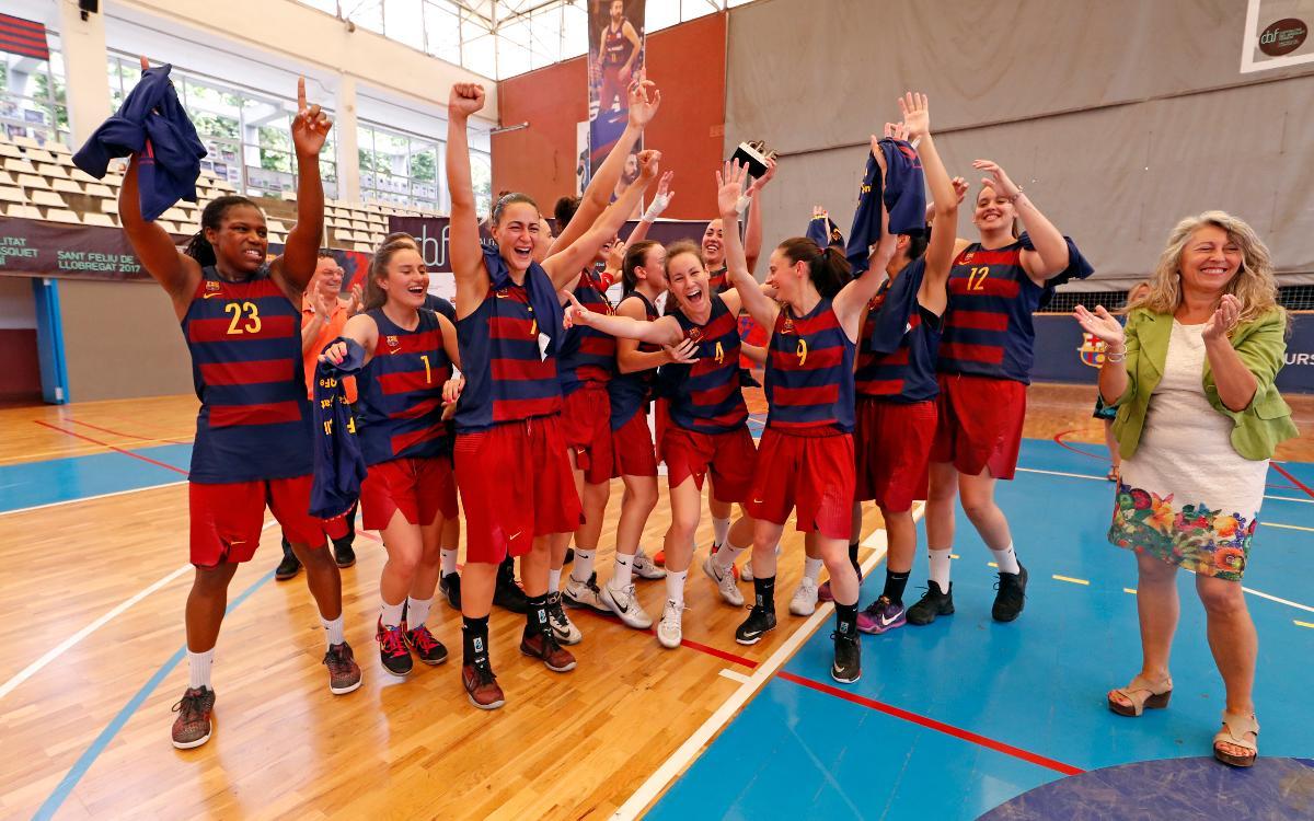 El Barça CBS consigue el ascenso a la Liga Femenina 2