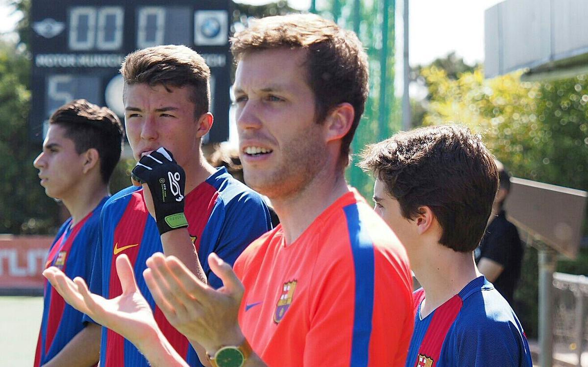 Relleu a la banqueta del Barça d'hoquei herba després d'assolir la permanència
