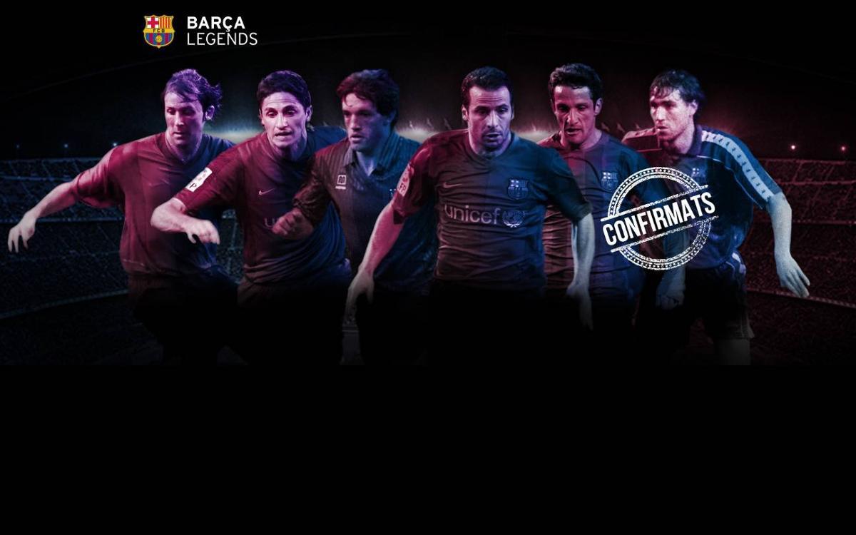 Primers jugadors confirmats per al debut dels Barça Legends al Camp Nou