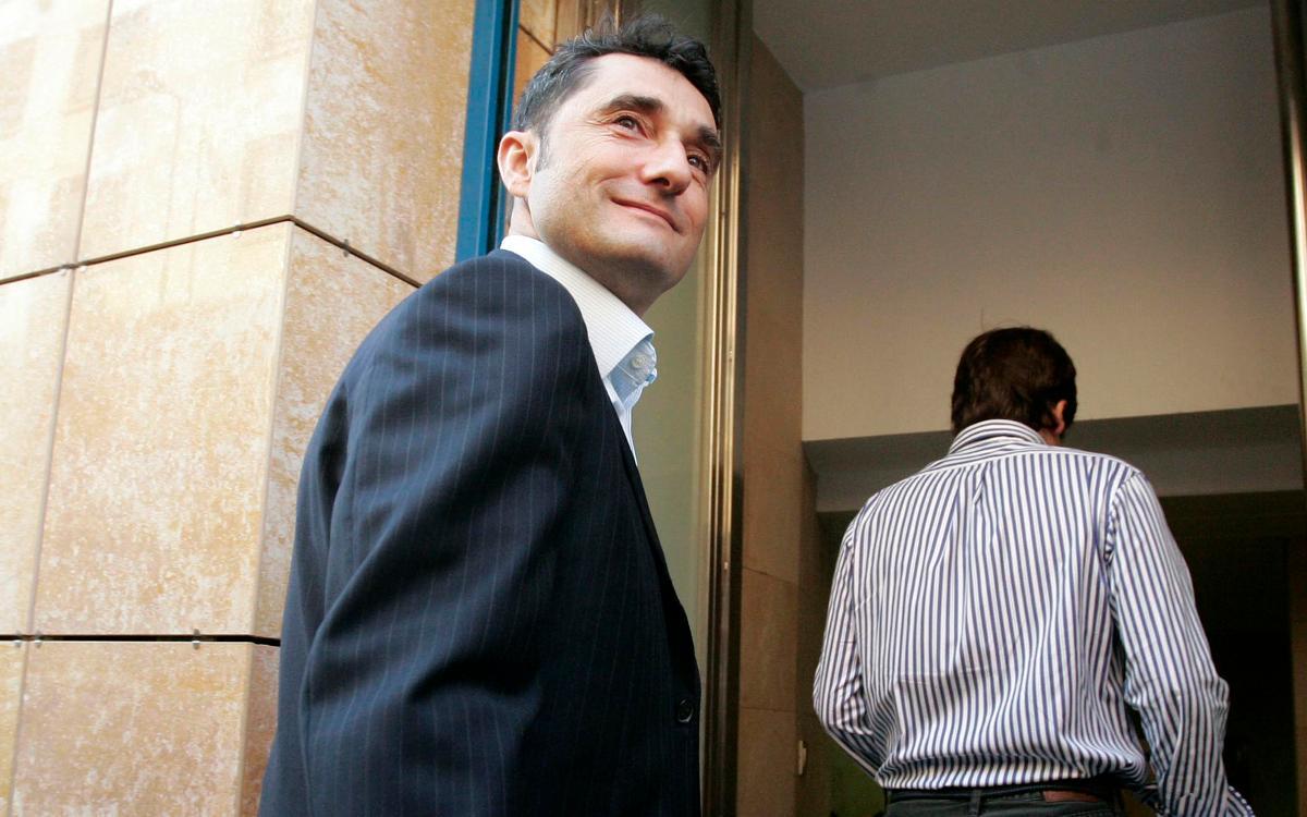 Ernesto Valverde arriba aquest dimecres a Barcelona