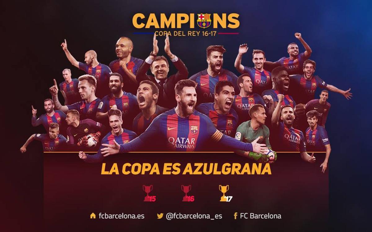 El FC Barcelona conquista la 29ª Copa del Rey en el Vicente Calderón