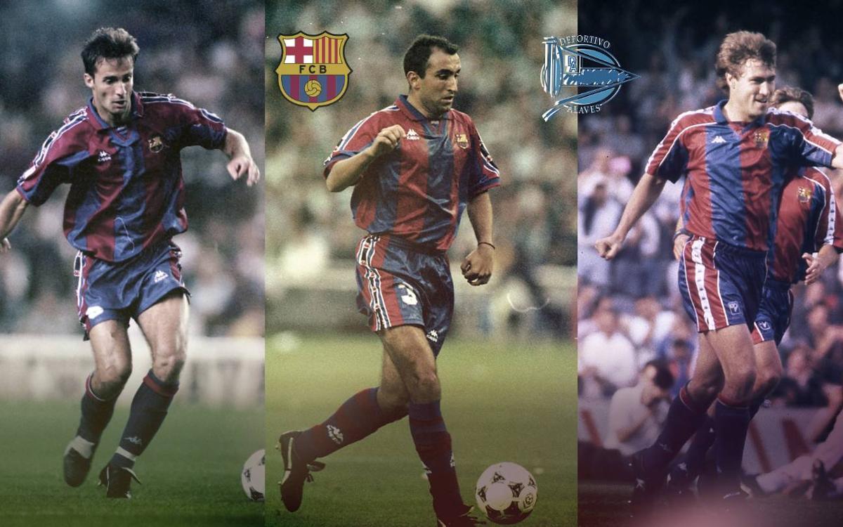 ¿Qué futbolistas han jugado en el Barça y el Alavés?