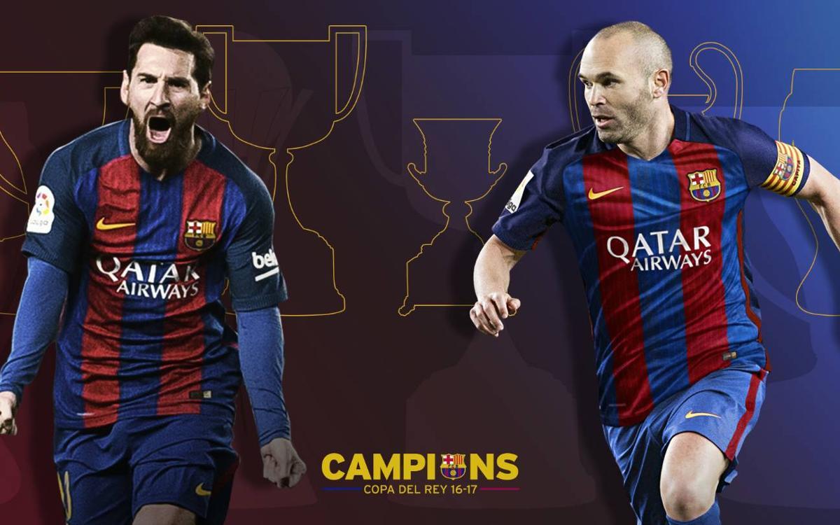 Iniesta y Messi, 30 títulos de azulgrana