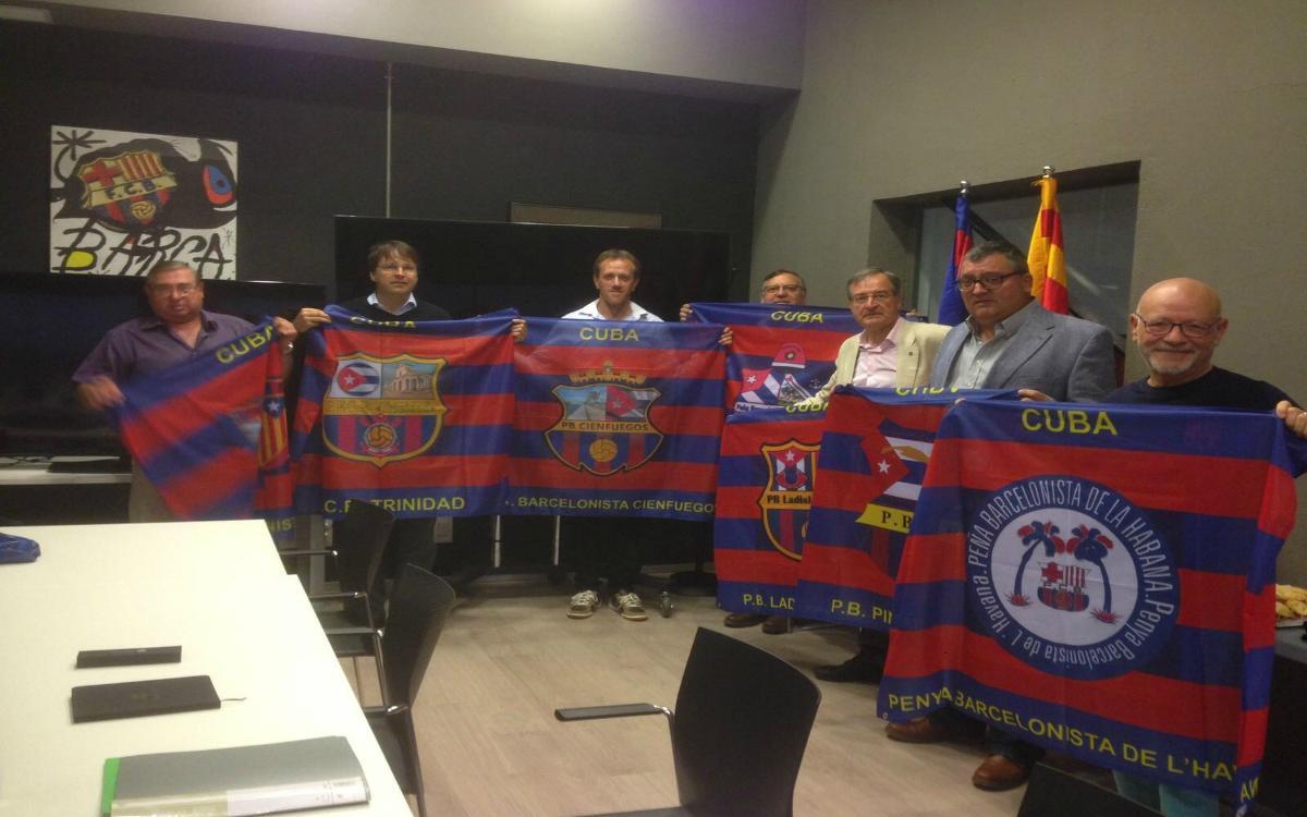 Encuentro de Peñas cubanas en el Camp Nou
