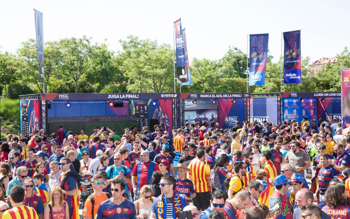 Així serà la 'Fan Zone' del Barça per a la final de la Copa