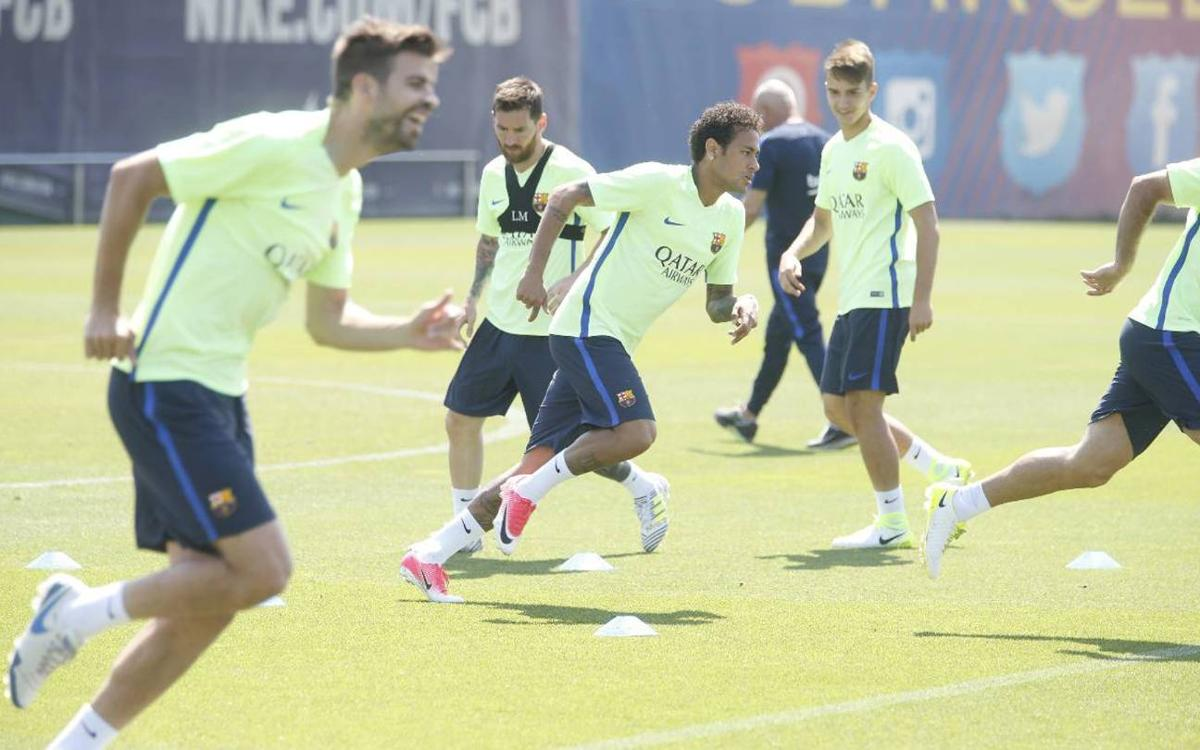 Final training session of the season with the Copa final in mind