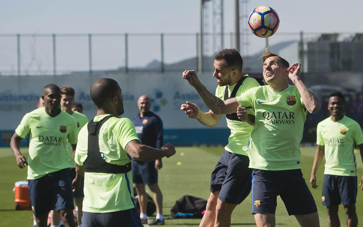 Training continues without internationals