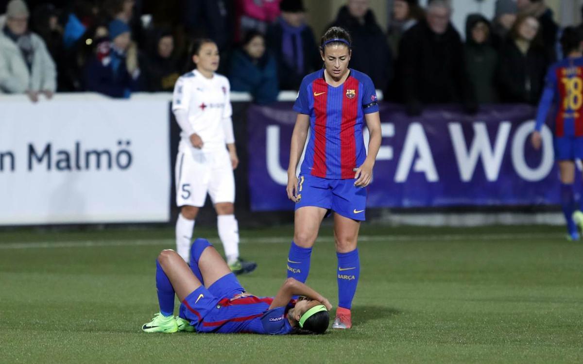 Andressa Alves, con una lesión en el ligamento deltoideo de un tobillo
