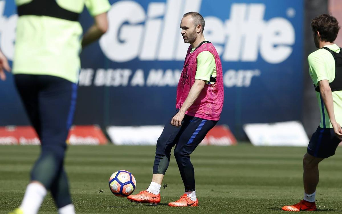 Training schedule for a week in which LaLiga action returns