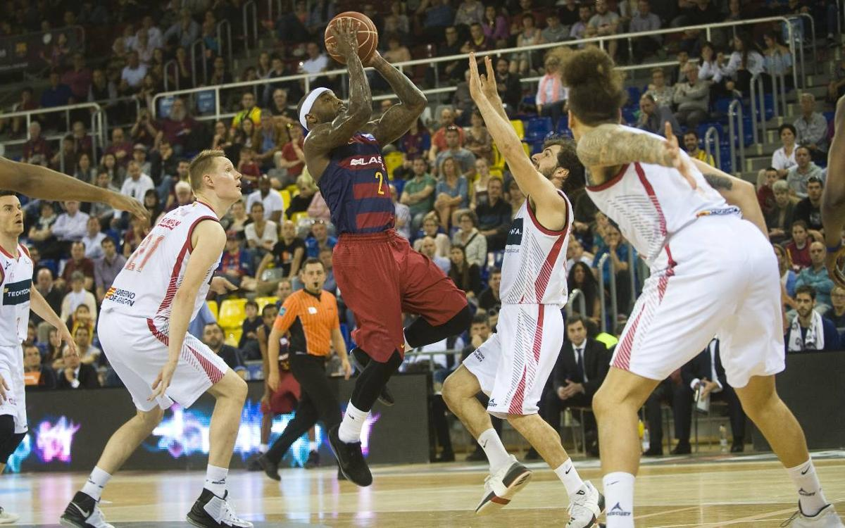 FC Barcelona Lassa - Tecnyconta Zaragoza: Un gran triple de Rice decide el partido (91-88)